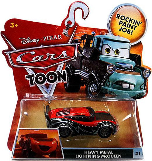 Disney / Pixar Cars Cars Toon Main Series Heavy Metal Lightning McQueen Diecast Car #41