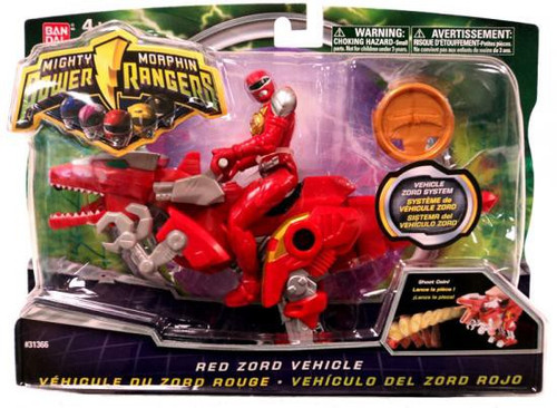 Power Rangers Mighty Morphin 2010 Red Zord Vehicle Action Figure