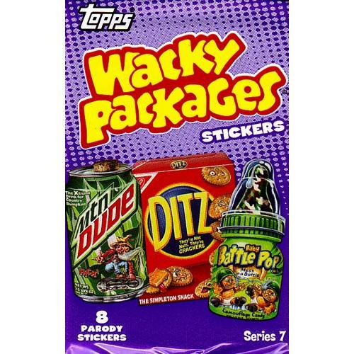 Wacky Packages Topps Series 7 Trading Card Sticker Pack [8 Cards!]