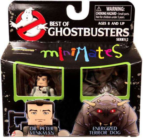 Ghostbusters Best of Minimates Series 2 Dr. Peter Venkman & Energized Terror Dog Exclusive Minifigure 2-Pack