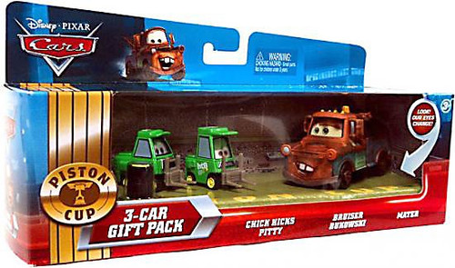 Disney / Pixar Cars Multi-Packs Piston Cup 3-Car Gift Pack Diecast Car Set [Mater & Pit Crew]