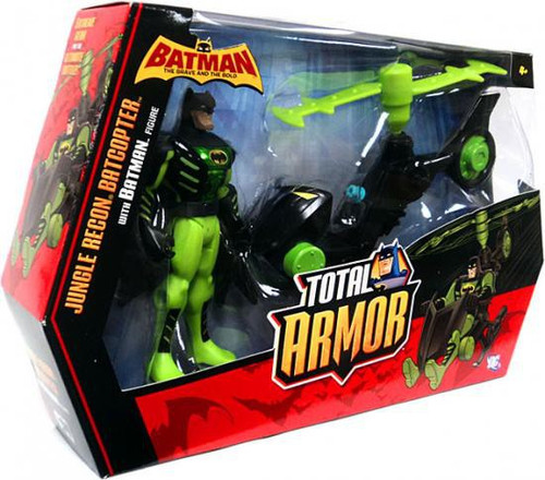 Batman Brave and the Bold Total Armor Jungle Recon Batcopter Action Figure Set