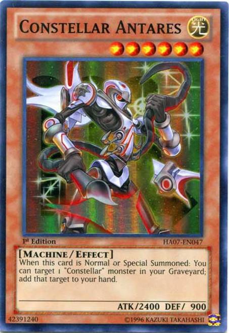 YuGiOh Zexal Trading Card Game Hidden Arsenal 7: Knight of Stars Super Rare Constellar Antares HA07-EN047