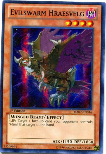 YuGiOh Trading Card Game Hidden Arsenal 7: Knight of Stars Super Rare Evilswarm Hraesvelg HA07-EN016