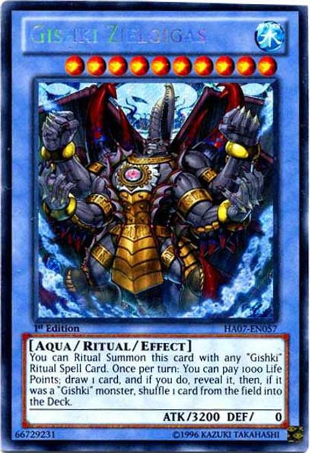 YuGiOh Zexal Hidden Arsenal 7: Knight of Stars Secret Rare Gishki Zielgigas HA07-EN057