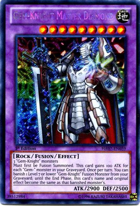 YuGiOh Trading Card Game Hidden Arsenal 7: Knight of Stars Secret Rare Gem-Knight Master Diamond HA07-EN059