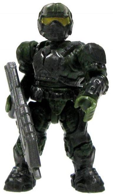 Mega Bloks Halo Marine 2-Inch Minifigure [Dark Green with Assault Rifle Loose]