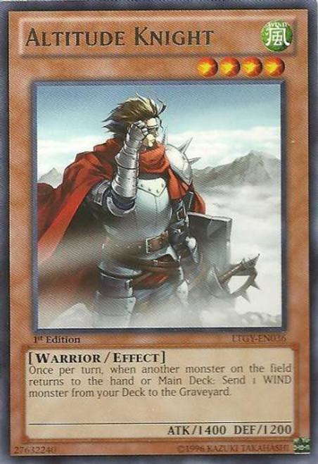 YuGiOh Trading Card Game Lord of the Tachyon Galaxy Rare Altitude Knight LTGY-EN036