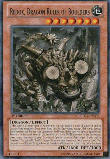 YuGiOh Trading Card Game Lord of the Tachyon Galaxy Rare Redox, Dragon Ruler of Boulders LTGY-EN038