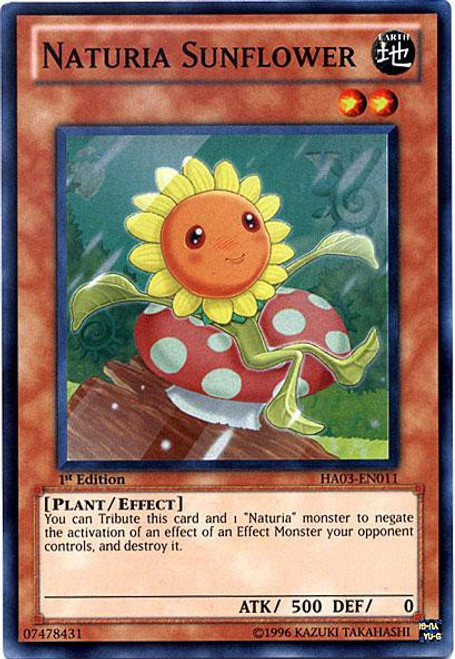 YuGiOh YuGiOh 5D's Hidden Arsenal 3 Super Rare Naturia Sunflower HA03-EN011