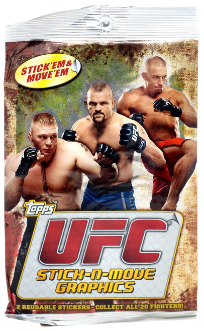 Topps UFC 2010 Stick-N-Move Trading Card Sticker Pack