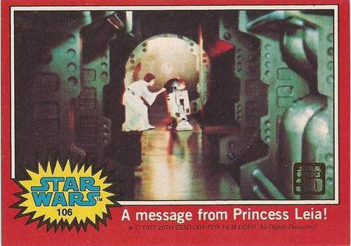 Star Wars Topps 30th Anniversary Red Box Topper #106
