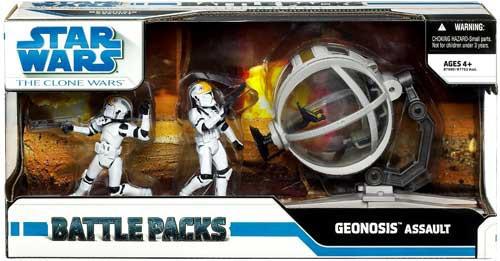 Star Wars The Clone Wars 2009 Battle Pack Geonosis Assault Action Figure Set