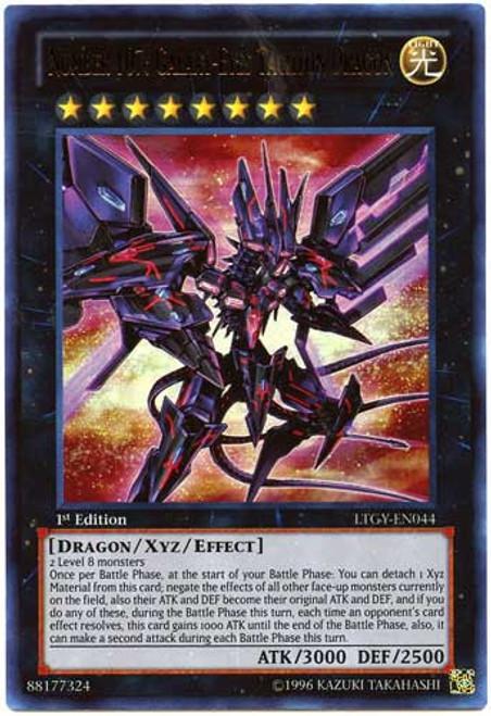 YuGiOh Trading Card Game Lord of the Tachyon Galaxy Ultra Rare Number 107: Galaxy-Eyes Tachyon Dragon LTGY-EN044