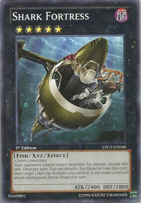 YuGiOh Trading Card Game Lord of the Tachyon Galaxy Common Shark Fortress LTGY-EN048