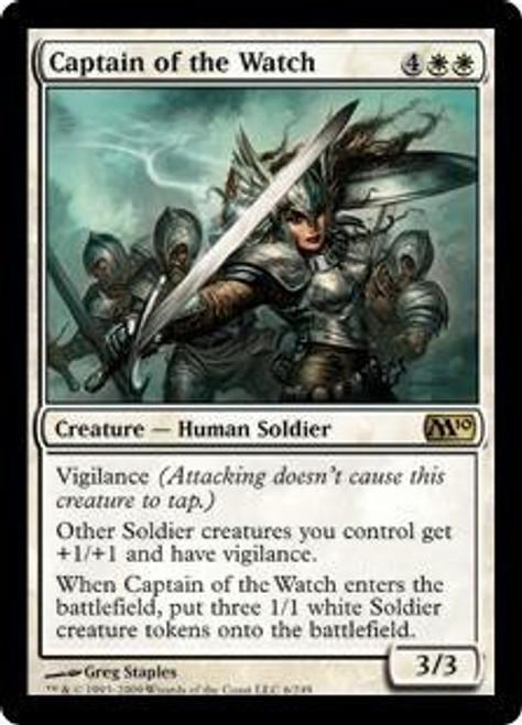 MtG 2010 Core Set Rare Captain of the Watch #6
