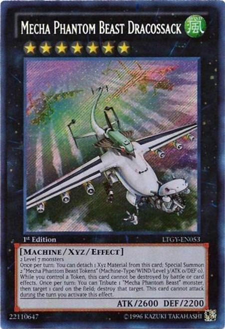YuGiOh Trading Card Game Lord of the Tachyon Galaxy Secret Rare Mecha Phantom Beast Dracossack LTGY-EN053