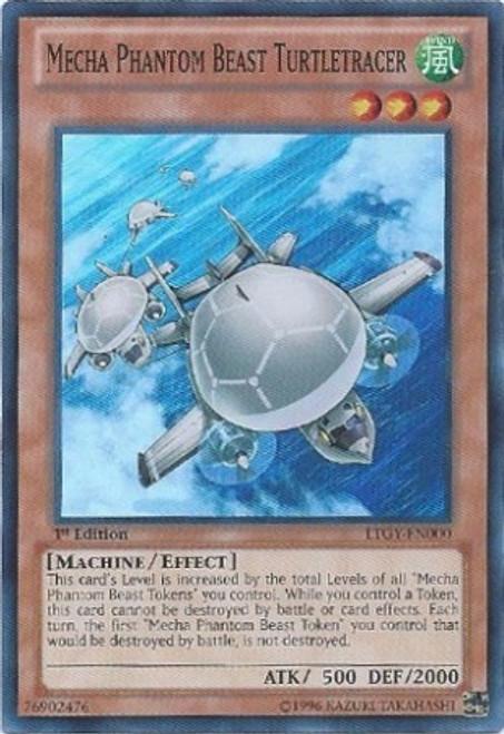 YuGiOh Zexal Trading Card Game Lord of the Tachyon Galaxy Super Rare Mecha Phantom Beast Turtletracer LTGY-EN000