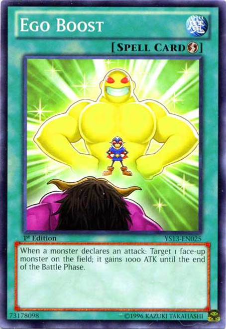 YuGiOh 2013 Super Starter: V for Victory Common Ego Boost YS13-EN025