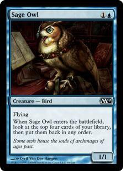 MtG 2010 Core Set Common Sage Owl #69