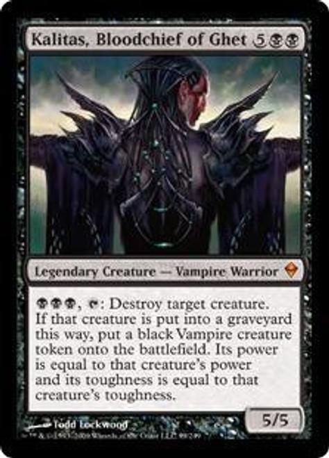 MtG Zendikar Mythic Rare Kalitas, Bloodchief of Ghet #99