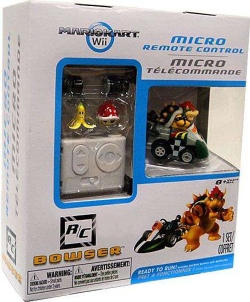 Super Mario Mario Kart Wii Micro Remote Control Bowser Exclusive R/C Vehicle