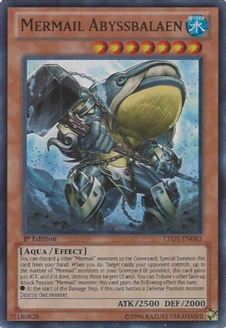 YuGiOh Trading Card Game Lord of the Tachyon Galaxy Ultra Rare Mermail Abyssbalaen LTGY-EN083