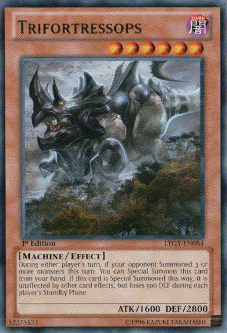 YuGiOh Trading Card Game Lord of the Tachyon Galaxy Rare Trifortressops LTGY-EN084