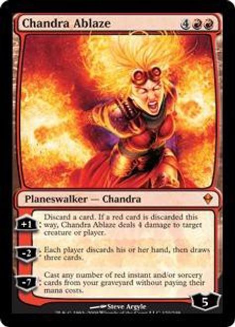 MtG Zendikar Mythic Rare Chandra Ablaze #120