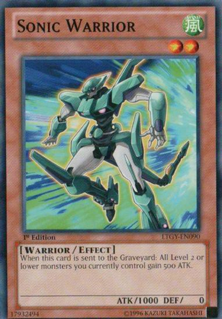 YuGiOh Trading Card Game Lord of the Tachyon Galaxy Common Sonic Warrior LTGY-EN090