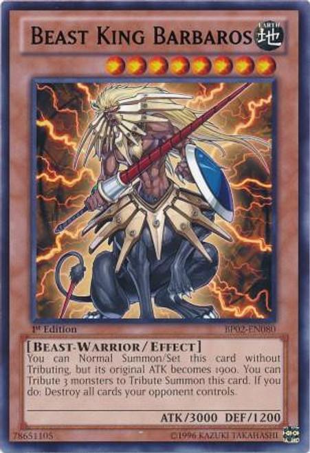 YuGiOh Battle Pack 2: War of the Giants Rare Beast King Barbaros BP02-EN080
