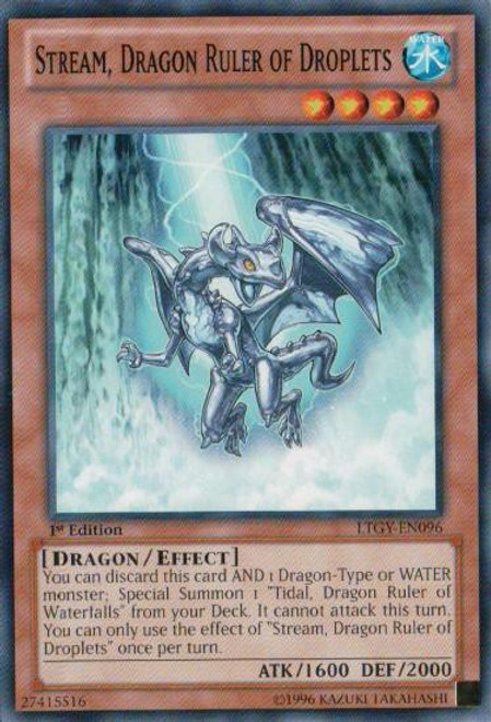 YuGiOh Trading Card Game Lord of the Tachyon Galaxy Common Stream, Dragon Ruler of Droplets LTGY-EN096