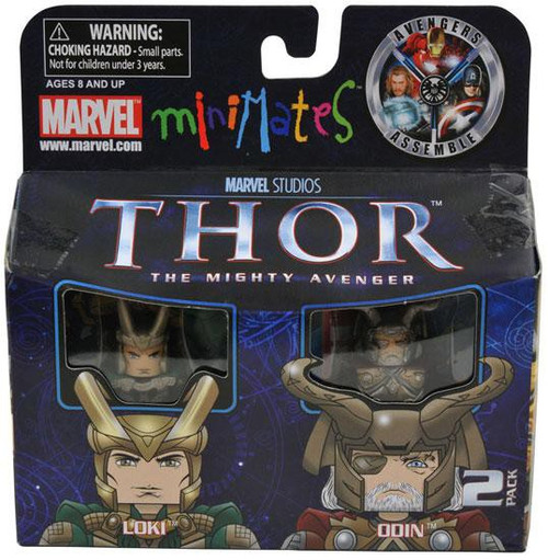 Thor The Mighty Avenger Minimates Series 39 Loki & Odin Exclusive Minifigure 2-Pack
