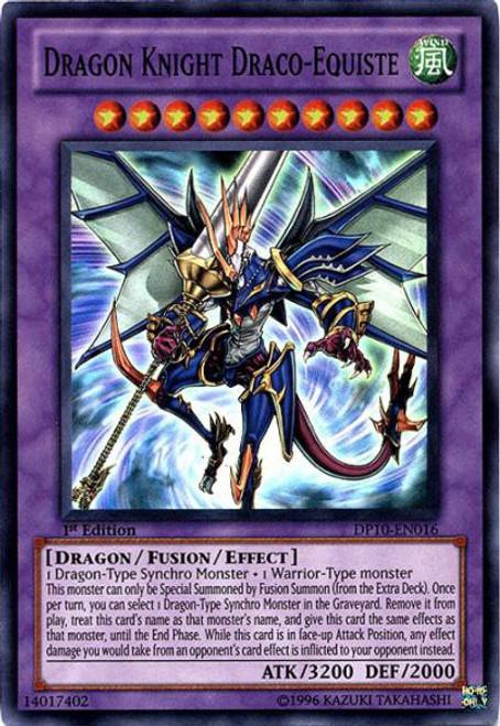 YuGiOh YuGiOh 5D's Duelist Pack Yusei Fudo 3 Super Rare Dragon Knight Draco-Equiste DP10-EN016