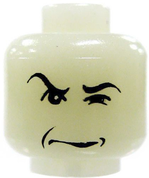 Harry Potter Glow-in-the-Dark Glaring Sneer Minifigure Head [Severus Snape Loose]
