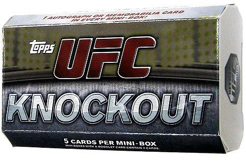 UFC Topps 2010 Knockout Trading Card MINI Box Pack [5 Cards, 1 Autograph OR Memorabilia!]