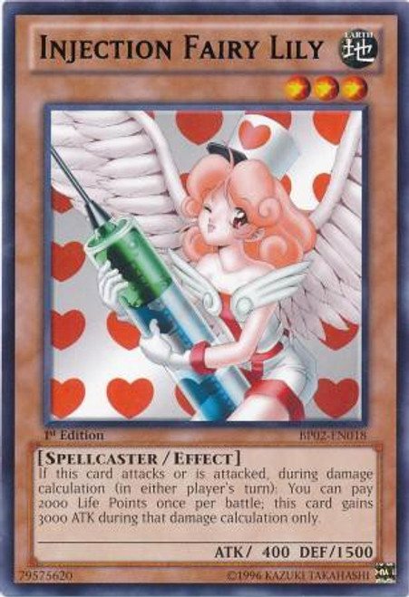 YuGiOh Battle Pack 2: War of the Giants Rare Injection Fairy Lily BP02-EN018