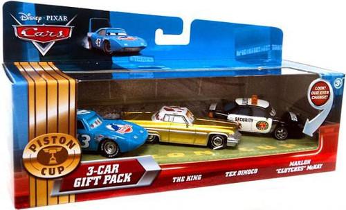 Disney / Pixar Cars Multi-Packs Piston Cup 3-Car Gift Pack Diecast Car Set [Dinoco]