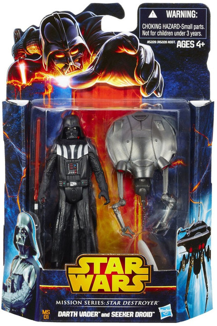 Star Wars Expanded Universe 2013 Mission Series Darth Vader & Seeker Droid Action Figure 2-Pack MS01 [Star Destroyer]