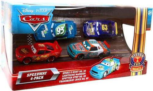 Disney / Pixar Cars Multi-Packs Speedway 4-Pack Exclusive Diecast Car Set [Spare O Mint]