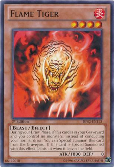 YuGiOh Battle Pack 2: War of the Giants Common Flame Tiger BP02-EN113
