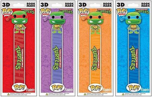 Funko Teenage Mutant Ninja Turtles POP! TV Raphael, Leonardo, Donatello & Michelangelo Book Mark Set