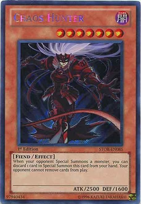 YuGiOh YuGiOh 5D's Storm of Ragnarok Secret Rare Chaos Hunter STOR-EN085