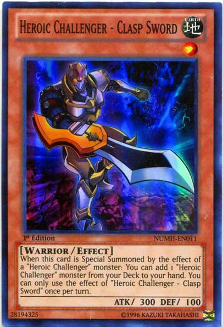 YuGiOh Number Hunters Super Rare Heroic Challenger - Clasp Sword NUMH-EN011