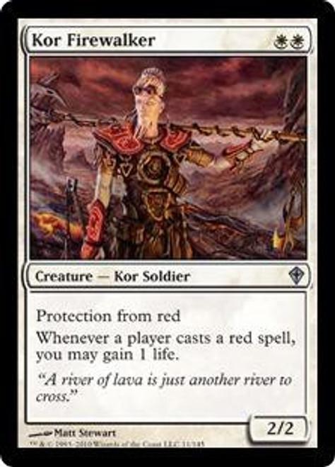 MtG Worldwake Uncommon Kor Firewalker #11
