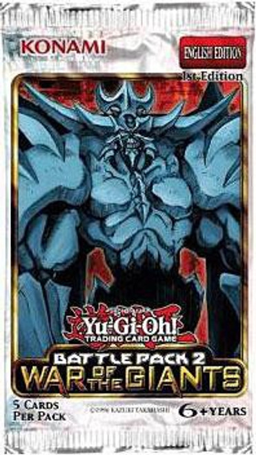 YuGiOh Trading Card Game Battle Pack 2 War of the Giants (1st Edition) Booster Pack [5 Cards]