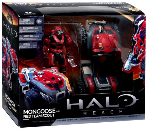 McFarlane Toys Halo Reach Mongoose with Red Team Scout Spartan Action Figure Set