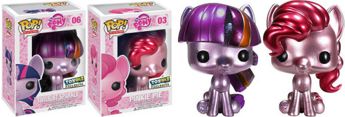 Funko POP! My Little Pony Metallic Pinkie Pie & Twilight Sparkle Exclusive Set of Both Vinyl Figures
