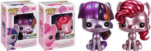 Funko POP! My Little Pony Metallic Pinkie Pie & Twilight Sparkle Exclusive Set of Both Vinyl Figures