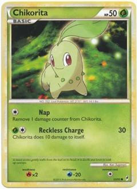 Pokemon Trading Card Game Call of Legends Common Chikorita #53